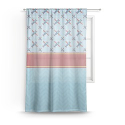 Airplane Theme Sheer Curtains (Personalized)