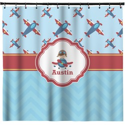 Airplane Theme Shower Curtain (Personalized)