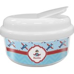 Airplane Theme Snack Container (Personalized)