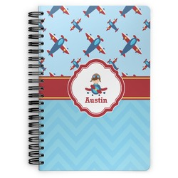 Airplane Theme Spiral Bound Notebook (Personalized)