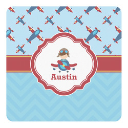 Airplane Theme Square Decal (Personalized)