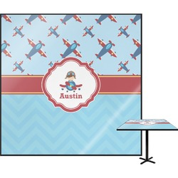 Airplane Theme Square Table Top (Personalized)