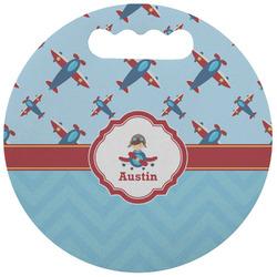 Airplane Theme Stadium Cushion (Round) (Personalized)