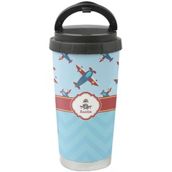 Airplane Theme Stainless Steel Travel Mug (Personalized)