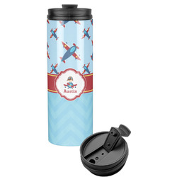Airplane Theme Stainless Steel Skinny Tumbler (Personalized)