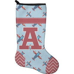Airplane Theme Christmas Stocking - Neoprene (Personalized)
