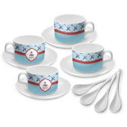 Airplane Theme Tea Cup - Set of 4 (Personalized)