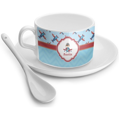 Airplane Theme Tea Cups (Personalized)