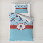 Airplane Theme Toddler Bedding w/ Name or Text