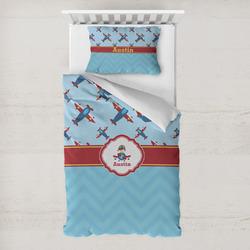 Airplane Theme Toddler Bedding w/ Name or Text