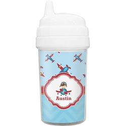 Airplane Theme Toddler Sippy Cup (Personalized)