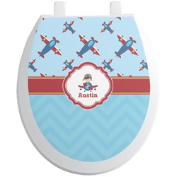 Airplane Theme Toilet Seat Decal (Personalized)