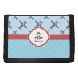 Airplane Theme Trifold Wallet (Personalized)