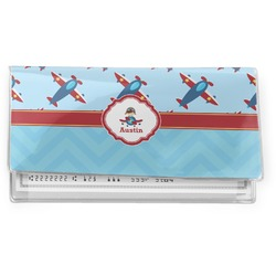 Airplane Theme Vinyl Checkbook Cover (Personalized)