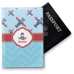 Airplane Theme Vinyl Passport Holder (Personalized)