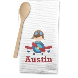 Airplane Theme Waffle Weave Kitchen Towel (Personalized)