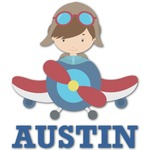 Airplane Theme Graphic Decal - Custom Sized (Personalized)
