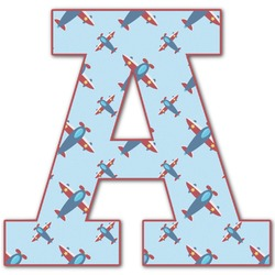 Airplane Theme Letter Decal - Custom Sized (Personalized)