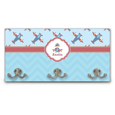 Airplane Theme Wall Mounted Coat Rack (Personalized)