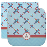 Airplane Theme Facecloth / Wash Cloth (Personalized)