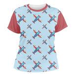 Airplane Theme Women's Crew T-Shirt (Personalized)