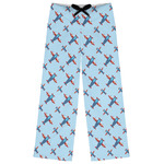 Airplane Theme Womens Pajama Pants (Personalized)