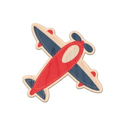 Airplane Theme Genuine Maple or Cherry Wood Sticker (Personalized)