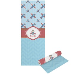 Airplane Theme Yoga Mat - Printable Front and Back (Personalized)