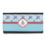 Airplane Theme Leatherette Ladies Wallet (Personalized)