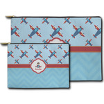 Airplane Theme Zipper Pouch (Personalized)