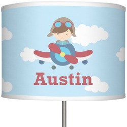 "Airplane & Pilot 13"" Drum Lamp Shade (Personalized)"
