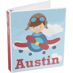 Airplane & Pilot 3-Ring Binder (Personalized)