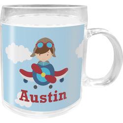Airplane & Pilot Acrylic Kids Mug (Personalized)