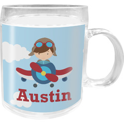 Airplane & Pilot Acrylic Kids Mug (Personalized)