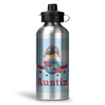 Airplane & Pilot Water Bottle - Aluminum - 20 oz (Personalized)