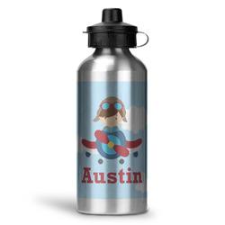 Airplane & Pilot Water Bottle - Aluminum - 20 oz (Personalized)