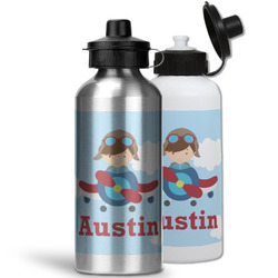 Airplane & Pilot Water Bottles- Aluminum (Personalized)