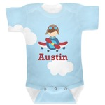 Airplane & Pilot Baby Bodysuit (Personalized)