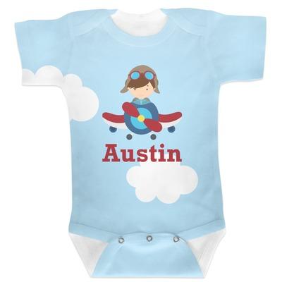 Airplane & Pilot Baby Bodysuit (Personalized)