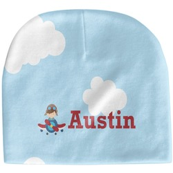Airplane & Pilot Baby Hat (Beanie) (Personalized)