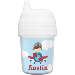 Airplane & Pilot Baby Sippy Cup (Personalized)