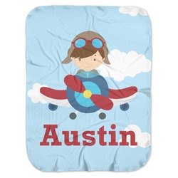 Airplane & Pilot Baby Swaddling Blanket (Personalized)