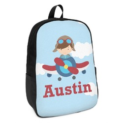 Airplane & Pilot Kids Backpack (Personalized)