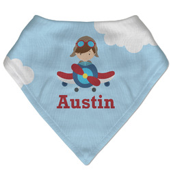 Airplane & Pilot Bandana Bib (Personalized)