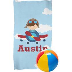 Airplane & Pilot Beach Towel (Personalized)