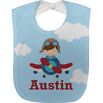 Airplane & Pilot Baby Bib (Personalized)