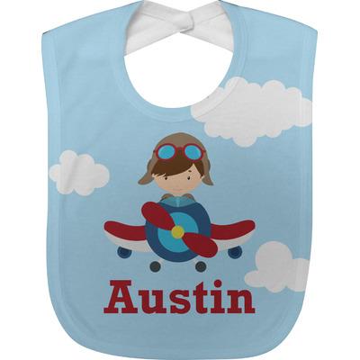 Airplane & Pilot Baby Bib (Personalized)