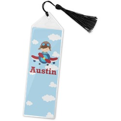 Airplane & Pilot Book Mark w/Tassel (Personalized)