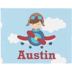 Airplane & Pilot Placemat (Fabric) (Personalized)