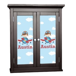 Airplane & Pilot Cabinet Decal - Large (Personalized)